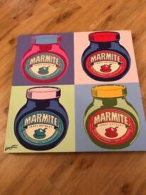 John Lewis Marmite Canvas Picture