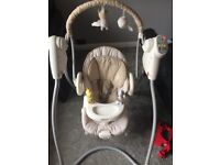 Baby bouncer seat and swing