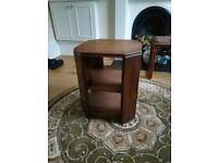 art deco hexagonal oak stand/occasional table