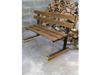 Great quality ..heavy duty 3 seater garden bench.. iron and Oak
