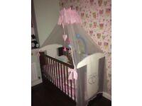 baby cot bed & bedding set