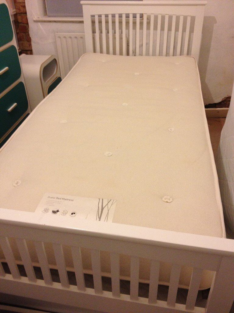 White frame Single Bed converts to a Double Bed | in Park Street ...