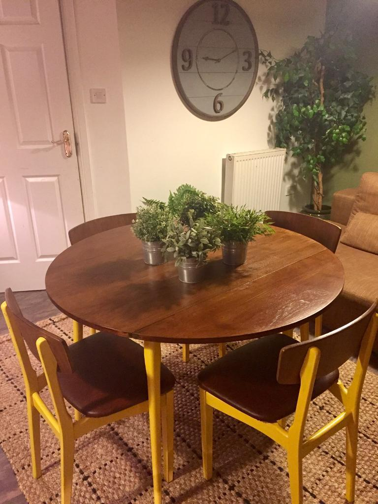 Funky Retro Dining Table And 4 Chairs Habitat StyleREDUCED