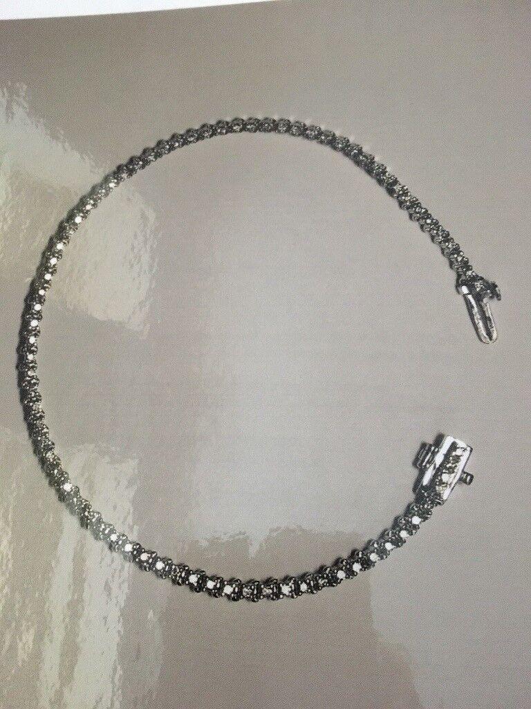 White Gold Diamond set Tennis Bracelet