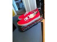 Men's Vans Red - Perfect Xmas Gift