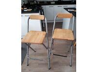 2 x Ikea bar stools
