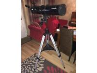 Telescope with tripod sky watcher with x zooms
