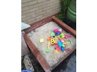 Sand pit and clean dry sand