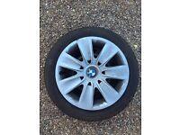 Set of 4 BMW 3 series wheels with Dunlop Wintersport M 205/55 R16 run flat winter tyres