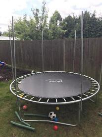 Plum 8ft trampoline £10