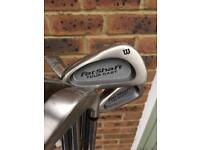 Wilson fat shaft left handed golf irons 3-SW