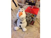 Authentic Disney Olaf soft toy.