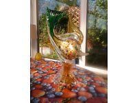 Exquisite Murano handcrafted Venetian glass fish ornament.