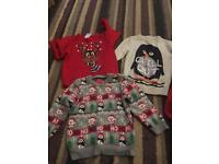Baby/toddler Christmas jumpers red size 1.5 to 2 years and the other 2 are 2-3 years