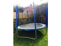 8ft trampoline with safety net. Hardly used and in good condition.