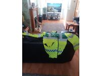 First aid bag and ambulance jacket