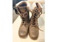 Brown leather Rocket dog boots