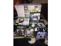 Xbox One S 500gb 5 games 2 pads turtle beach headset