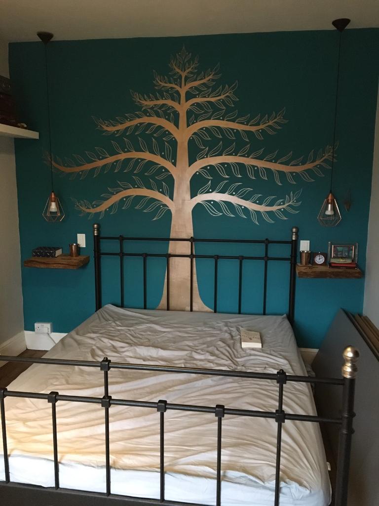 FREE King Size Ikea Black Metal Vintage Style Bed Frame