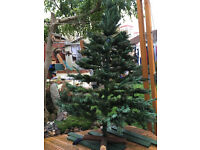 Christmas tree , artificial, 6' tall, quality hook in branches, wooden foot