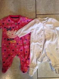 3-6 month baby girl sleepsuits