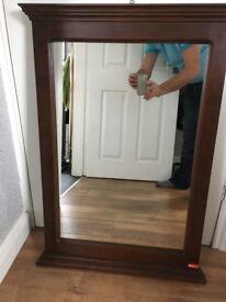 Large dark wood surounded Mirror maker MK Casa