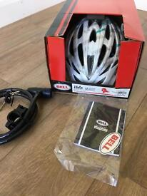 Bicycle Helmet and Bike Lock