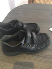 Boys black Clark shoes