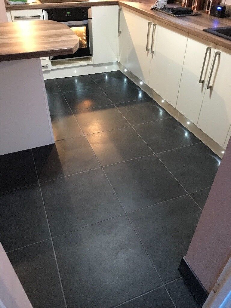 Floor tiles6 square metre500x500 dark grey porcelain tiles in image 1 of 3 dailygadgetfo Gallery