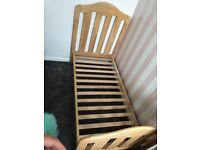 Toddler bed with mattress and cover