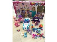 My little pony castle and large bundle