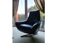 Galaxy Swivel leather chair