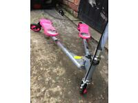 Girls pink 3 wheels scooter