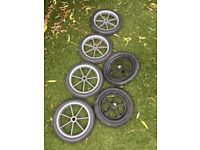 "6x Buggy pram 12"" puncture proof wheels"