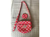 Cath kidston girls handbag and purse, as new