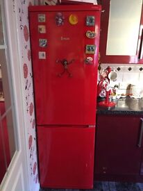 red fridgefreezer swan for sale