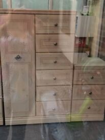 Lovely set Double wardrobe a set of 3 draws and a small wardrobe with 6 drawers attached