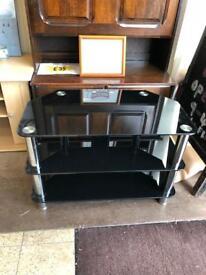 "Black glass 32"" tv stand"