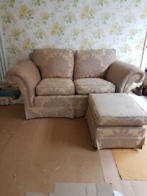 Duresta Sofa and Footstool