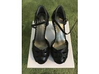 NEW Shelley's black glitter platform sole shoes . Size 5. Beautiful.