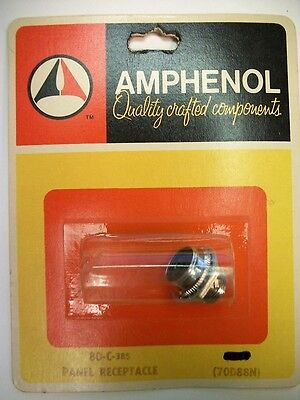 Amphenol 80-C - 80 Series 1 Contact Panel Mount Female Jack Socket
