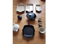 Le creuset selection - dishes, pans, tea pot