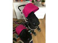 little devils pink pram pushchair