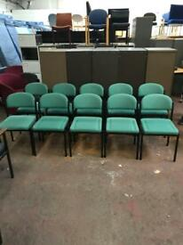 Green Stackable Chairs REDUCED
