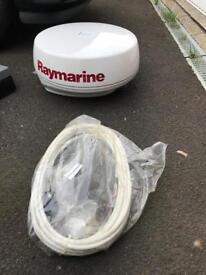 Raymarine Radar with cables and manuals.