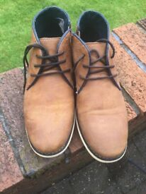 Boys River Island Tan Ankle Boots, - Size 4
