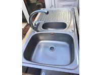 Stainless steel kitchen sink & tap