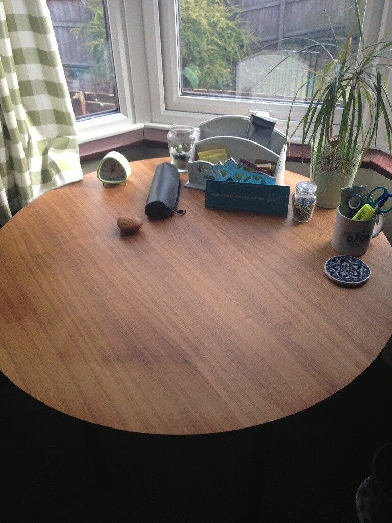 Ikea Stockholm Walnut Veneer Table Top Old Version With Height Adjule Legs