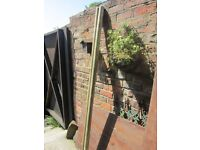 2x 2.10m round fence posts BARGAIN £10 the pair