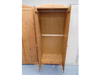 Ex Display Nordic 2 Door Wardrobe - Pine. RRP £159. As Good As New. Already Built And Can Deliver